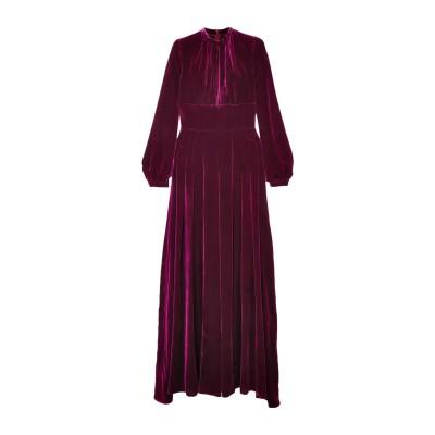 RAQUEL DINIZ ロングワンピース&ドレス パープル 40 シルク 100% ロングワンピース&ドレス
