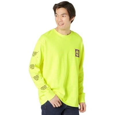ティンバーランド シャツ トップス メンズ Long Sleeve Garment Dyed Graphic Tee Safety Yellow
