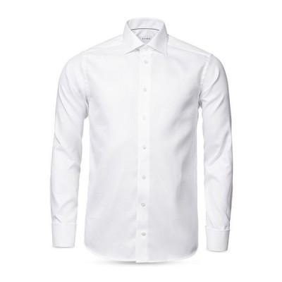 エトン メンズ シャツ トップス Diagonal Weave Contemporary Fit Dress Shirt