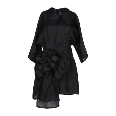 ミュウミュウ MIU MIU ミニワンピース&ドレス ブラック 40 シルク 100% ミニワンピース&ドレス