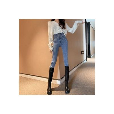 【送料無料】ネット 赤いズボン 女 超人気 レトロ ハイウエストのジーンズ 着やせ 着やせ   346770_A63456-2865007