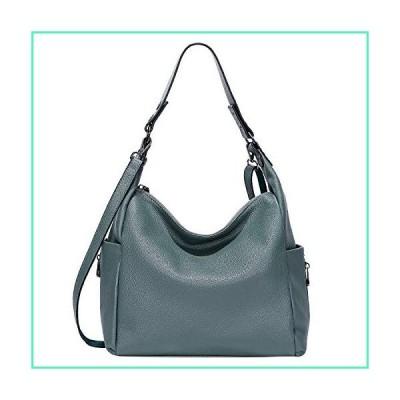 OVER EARTH Genuine Leather Purses and Handbags Shoulder Bags For Women Ladies Hobo Crossbody Purse Large (O116E Pearl Blue)並行輸入品