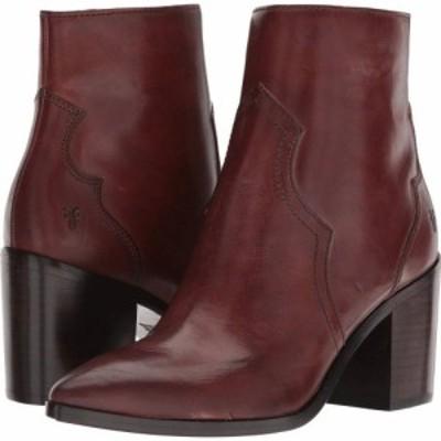フライ Frye レディース ブーツ シューズ・靴 Flynn Short Inside Zip Brown Antiqued Polished Leather