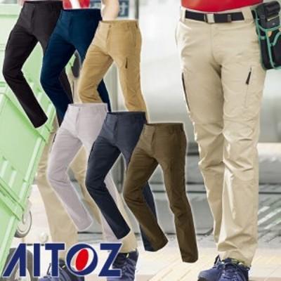 アイトス AZ-7843 ストレッチカーゴパンツ(ノータック)(男女兼用)超ストレッチ AITOZ 作業服
