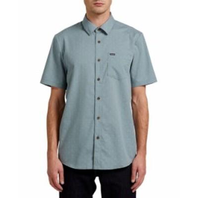 ボルコム メンズ シャツ トップス Men's Stallcup Short Sleeve Shirt Cool Blue