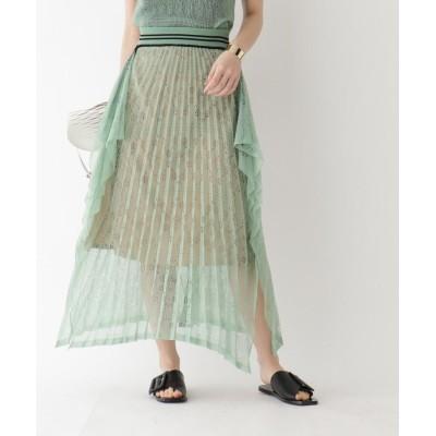 aquagirl(アクアガール) ◆Mame Kurogouchi 模様編みプリーツニットスカート
