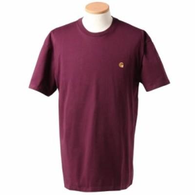 カーハート メンズ&レディース Tシャツ カットソーLサイズ/Carhartt ワンポイント刺繍 無地 半袖 Tシャツ カットソー 送料無料/込 誕生日