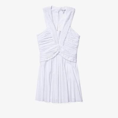 デレクラムテンクロスバイ レディース ワンピース トップス Ruched Pleated Mini Dress