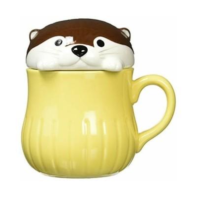 デコレ KAWAUSO CAFE カワウソすっぽりマグ チョコ [ファイ]88×113×H115mm KW-43661 250ml