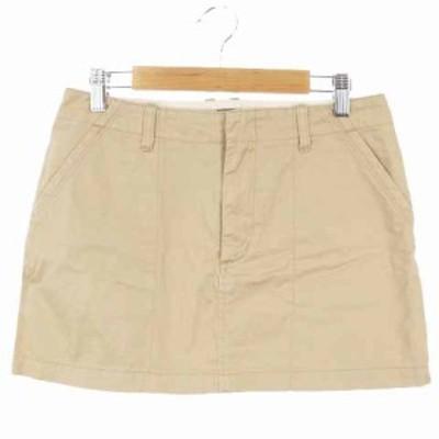 【中古】アーバンリサーチ URBAN RESEARCH スカート 台形 ミニ コットン 36 ベージュ /RI24 レディース