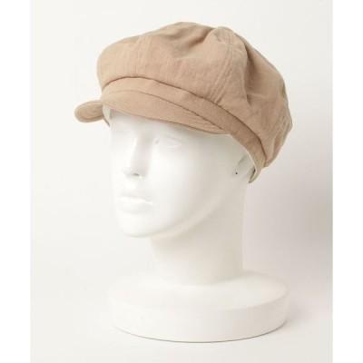 帽子 キャスケット 【SI Original】LINEN CAS コットンリネン無地キャスケット帽