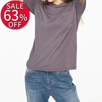 Tシャツ セール レディース 柔らかな肌触りのテンセルコットン クルーネックTシャツ 春 PC5061