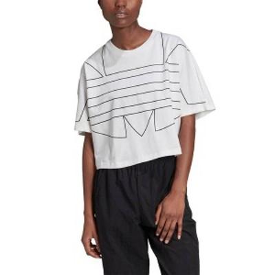 アディダス レディース シャツ トップス adidas Women's Big Trefoil Graphic T-Shirt White