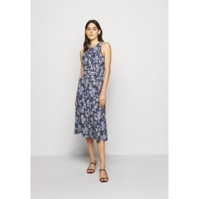 ラルフローレン ワンピース レディース トップス PRINTED MATTE DRESS - Jersey dress - navy/blue/colo