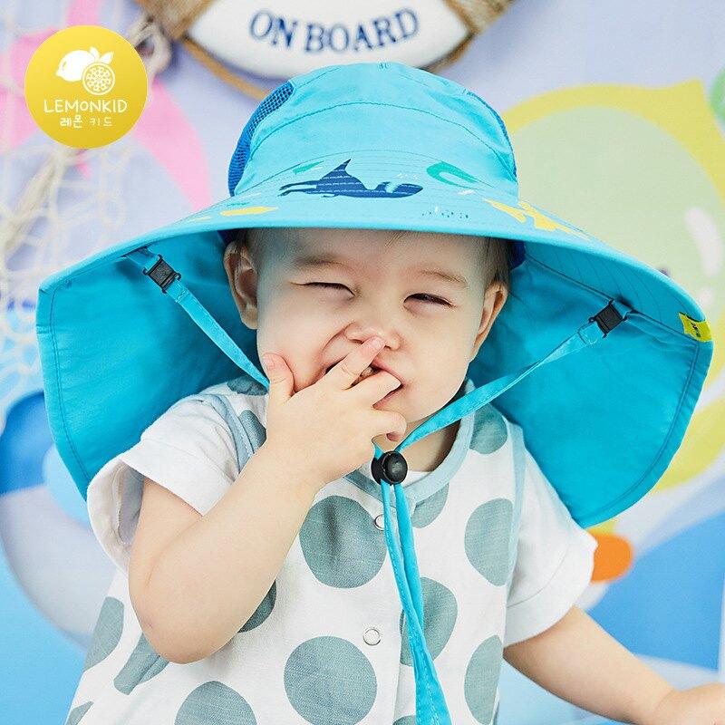 韓國Kocotree 荷葉大帽檐兒童防曬帽29002