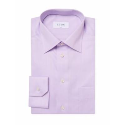 イートン Men Clothing Cotton Classic Fit Dress Shirt