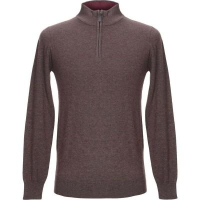 バルマン PIERRE BALMAIN メンズ ニット・セーター トップス sweater with zip Cocoa
