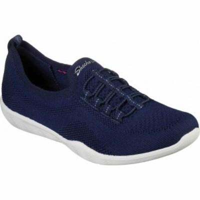 スケッチャーズ Skechers レディース スリッポン・フラット スニーカー シューズ・靴 Newbury St Every Angle Slip-on Sneaker Navy
