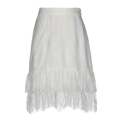 ジャストカヴァリ JUST CAVALLI ひざ丈スカート ホワイト 40 コットン 65% / ナイロン 35% ひざ丈スカート