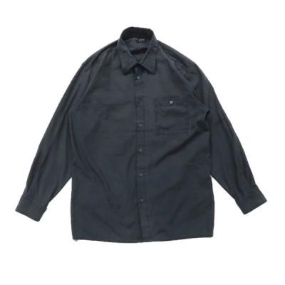フェイクスウェード ボックスシャツ 長袖 チャコールグレー サイズ表記:M