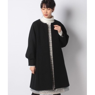 【ミス ジェイ】 メルトン デザインスリーブコート レディース ブラック 38 MISS J
