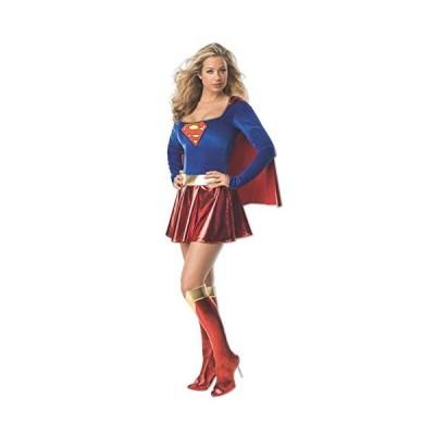 スーパーガール コスチューム コスプレ 衣装 スーパーマン 大人 女性用 レディース 仮装 ヒーロー スーツ S輸入品