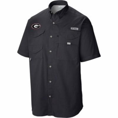 コロンビア Columbia メンズ トップス Georgia Bulldogs Tamiami Performance Black Shirt