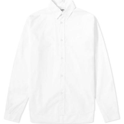 ケンゾー Kenzo メンズ シャツ トップス tiger crest poplin shirt White