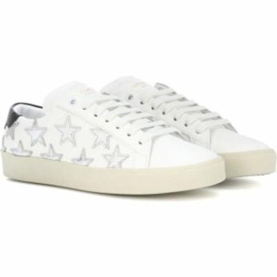 イヴ サンローラン Saint Laurent レディース スニーカー シューズ・靴 sl/06 court classic leather sneakers Blanc Optique/Argent/Ner