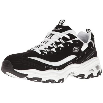 Skechers スポーツ メンズ D'Lites オックスフォード,black/White,9 M US(海外取寄せ品)