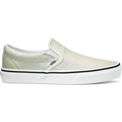 ヴァンズ Vans レディース スリッポン・フラット シューズ・靴 Classic Slip-On(TM) Metallic/Blanc de Blanc