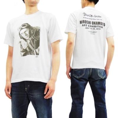 トイズマッコイ 半袖Tシャツ TOYS McCOY 岡本博原画展記念TEE The War Lover 戦う翼 半袖Tシャツ TMC1860 白 新品