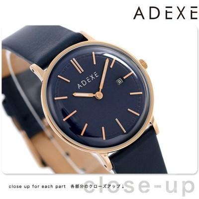 アデクス ADEXE ユニセックス デイト 33mm 革ベルト 2043A-06 腕時計 プチ