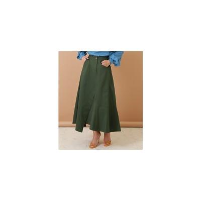 ANAP アシメデザインスカート カーキ
