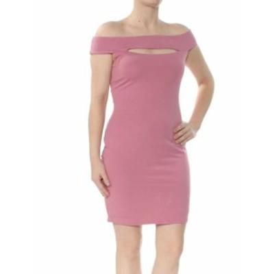 GUESS ゲス ファッション ドレス Guess Womens Dress Pink Size XS Sheath Cutout Off-Shoulder Knit