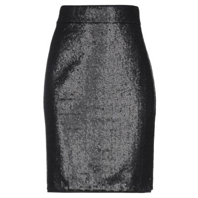 AVENUE MONTAIGNE ひざ丈スカート ブラック 6 ポリエステル 96% / ポリウレタン 4% ひざ丈スカート