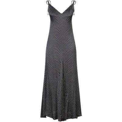VICOLO ロングワンピース&ドレス ブラック S レーヨン 100% ロングワンピース&ドレス