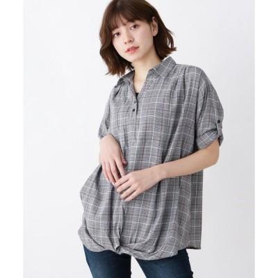 SHOO・LA・RUE / シューラルー 【M-L/2点セット】裾ねじりスキッパーシャツ+タンクトップ