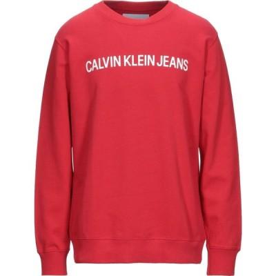 カルバンクライン CALVIN KLEIN JEANS メンズ スウェット・トレーナー トップス Sweatshirt Red