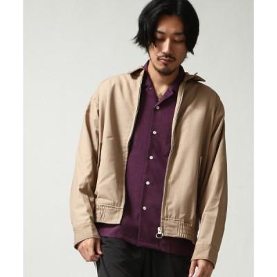 ジャケット ブルゾン 【ルーズシルエット】 T/Rショート丈フラップジャケット