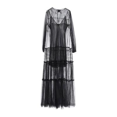 ピンコ PINKO ロングワンピース&ドレス ブラック 38 ナイロン 100% ロングワンピース&ドレス