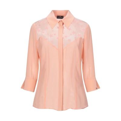 ELISABETTA FRANCHI シャツ あんず色 44 シルク 100% / ナイロン シャツ