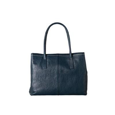 イマイバッグ GENOVA 本革 トートバッグ 大容量 ビジネス バッグ ファスナーポケット 牛革 レディース 女性 (2821 ネイビー)