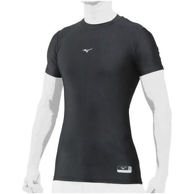 MIZUNO ミズノ バイオギアローネックハンソデ 12JA8C3109 野球 半袖アンダーシャツ メンズ ブラック セール