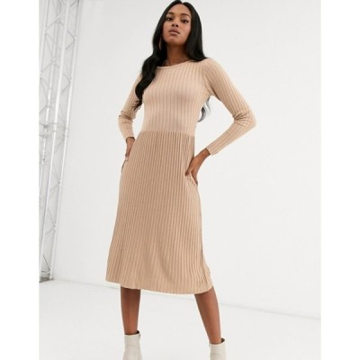ワイエーエス レディース ワンピース トップス Y.A.S ribbed knitted midi dress