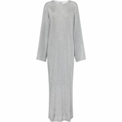 トーテム Toteme レディース ワンピース マキシ丈 ワンピース・ドレス metallic knit maxi dress Silver