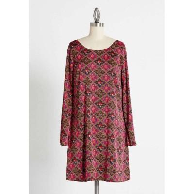 アモスイースタン Amos Eastern Apparel Inc. レディース ワンピース シフトドレス ワンピース・ドレス Victorian Holiday Groove Shift Dress Red