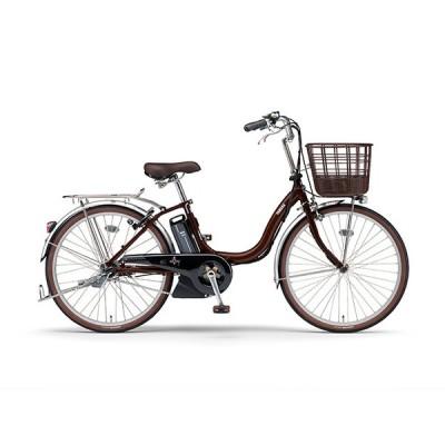 電動自転車 ヤマハ 電動アシスト自転車 PAS SION-U パス シオン ユー 24インチ 3段変速ギア 安い YAMAHA 2020 カカオ PA24FG0J 自転車 完全組立て おしゃれ