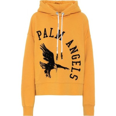 パーム エンジェルス Palm Angels レディース パーカー トップス Logo cotton hoodie Autumn Blaze Black