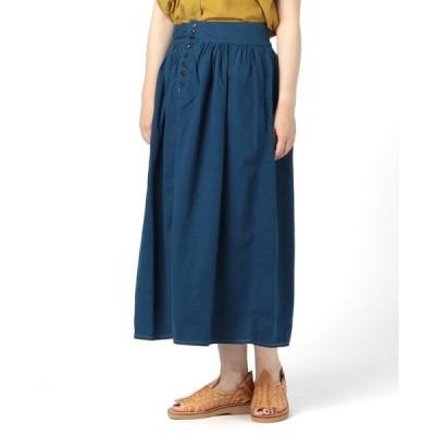 スカート orSlow × fennica / インディゴ プエブロ スカート